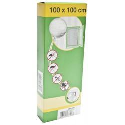 88-000-1000 Síť do oken proti hmyzu se suchým zipem, 100x100cm, bílá,