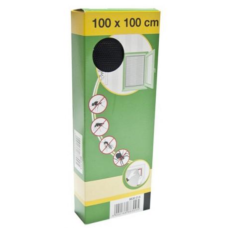 88-000-1001 Síť do oken proti hmyzu se suchým zipem, 100x100cm, černá