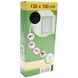 88-000-1021 Síť do oken proti hmyzu se suchým zipem, 130x150cm, černá