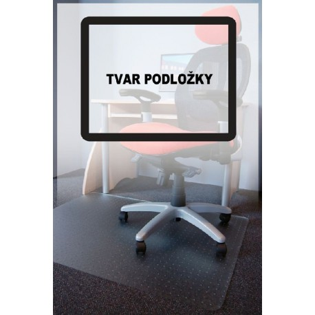 Podložka pod židle PC s nopy, čirá, 75x120cm, tvar O
