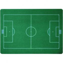 Podložka pod židli PCM hladká, s motivy - fotbalové hřiště, 90x120cm, tvar O
