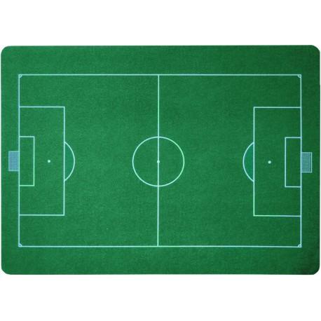 94-M11-8919 Podložka pod židli PCM hladká, s motivy - fotbalové hřiště, 90x120cm, tvar O