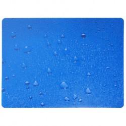 Podložka pod židli PCM hladká, s motivy - Wassertopen, 90x120cm, tvar O