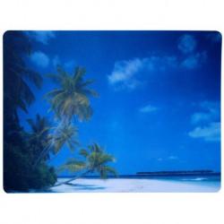 Podložka pod židli PCM hladká, s motivy - pláž, 90x120cm, tvar O