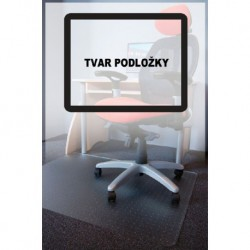 Podložka pod židli PC s nopy, čirá, 150x120cm, tvar O