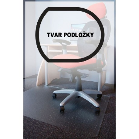 podložka pod židli PC s nopy, 90x120cm, čirá, tvar T