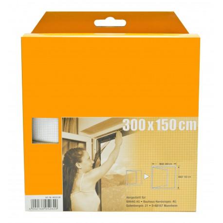 Síť okenní, 300x150cm, bílá