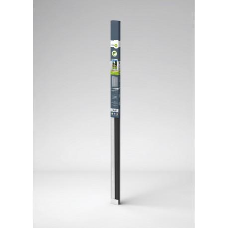 Kompletní set - rám hliníkový dveřní + síť proti hmyzu 100x215cm, hnědý rám