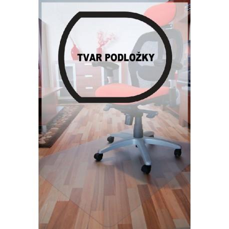 podložka pod židli PC hladká, čirá, 90x120cm, tvar T