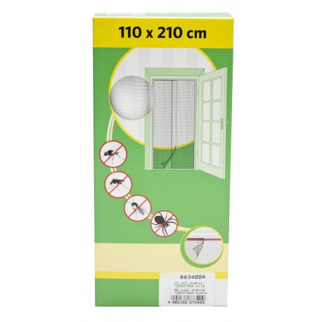 Síť dveřní, 60x210cm, černá, 2 díly