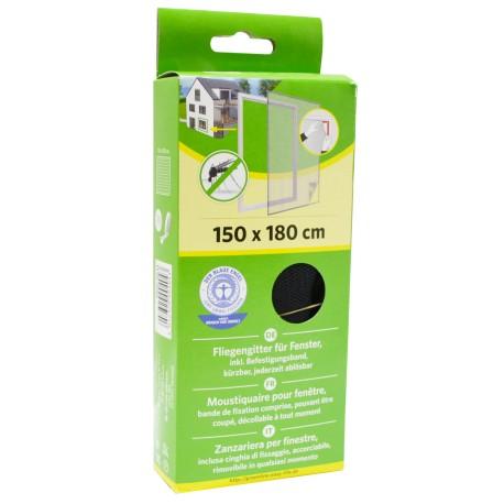 88-000-1031 Síť do oken proti hmyzu se suchým zipem, 150x180cm, černá