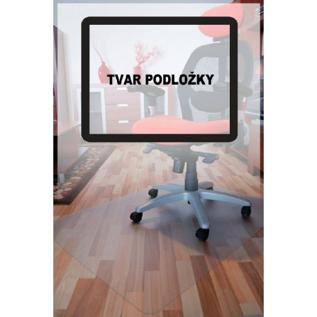 94-12-1800 podložka pod židli PC hladká, čirá, 180x120cm, tvar O