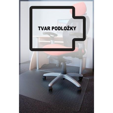 podložka pod židli PC s nopy, 130x120cm, čirá, tvar U