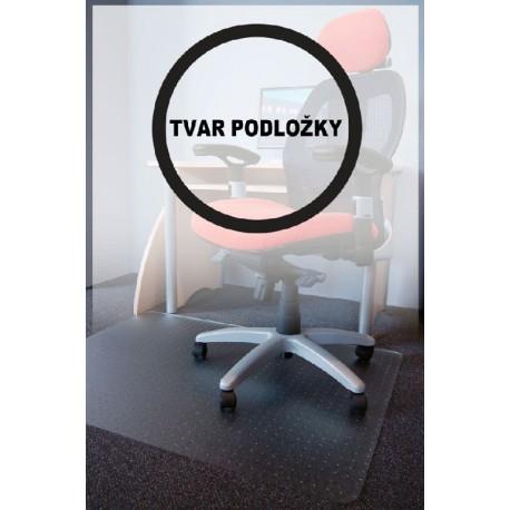 Podložka pod židle PC s nopy, čirá, průměr 120cm, tvar R